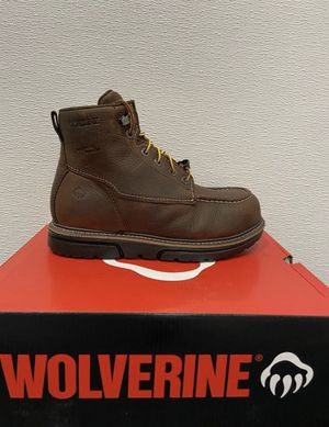 Wolverine work boots with safety toe/Botas de trabajo con casquillo for Sale in Highland, CA