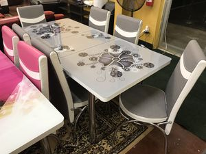 Dining table with 6 chairs brand new (((( free delivery)) for Sale in Richardson, TX
