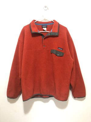 patagonia red mens Pullover sweater fleece L for Sale in Queens, NY