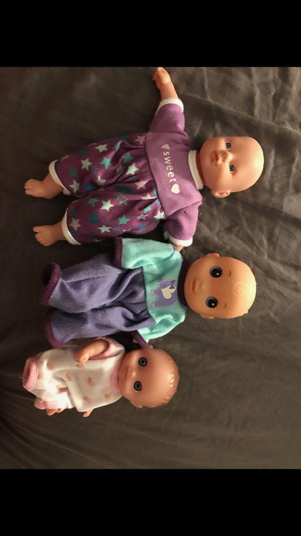 Set of 3 mini baby dolls