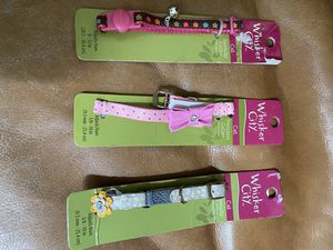 4 different sizes of Cat Collars $3 each for Sale in Fresno, CA
