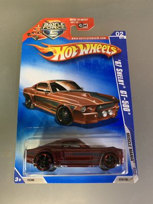 Hot Wheels 1967 Ford Shelby GT-500. Rare,HTF! '09 Muscle Mania Series #02 of 10. for Sale in Little Ferry, NJ