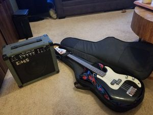 Bass Guitar with Small Amp for Sale in Cary, NC