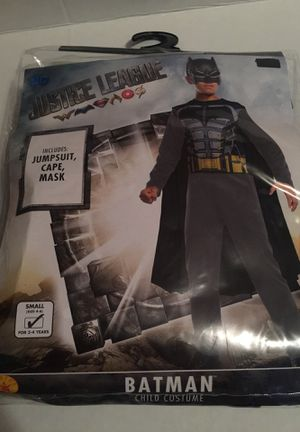 CHILDS HALLOWEEN COSTUME BATMAN SMALL(4-6) NEW for Sale in Peabody, MA