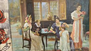 Victorian style detailed oil painting for Sale in Plano, TX