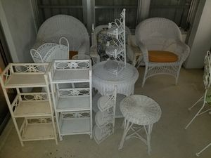 Wicker patio furniture set for Sale in Delray Beach, FL
