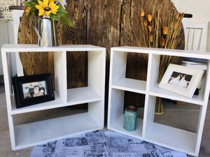 Tow rustic cube shelves 😍!! for Sale in Denver, CO