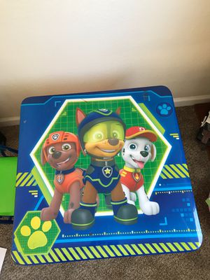 Kids Paw patrol table with 1 chair for Sale in Sunnyvale, CA