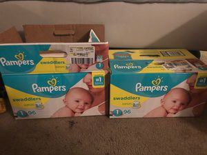 Pampers swaddlers size 1 for Sale in San Jose, CA