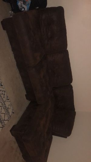 Brown couch for Sale in Wichita, KS