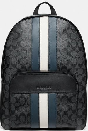 Houston Backpack In Signature Canvas With Varsity Stripe Comparable Value$550 for Sale in Phoenix, AZ