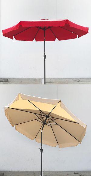 New $40 each Outdoor 10' ft Patio Umbrella Aluminum Beach Garden w/ Tilt Crank (4 Colors) for Sale in South El Monte, CA