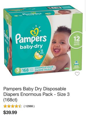 New box Pampers baby-dry 168 Cout for Sale in Aurora, OR