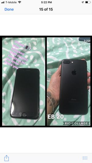 iPhone 📱 7 plus jet black for Sale in Alexandria, VA