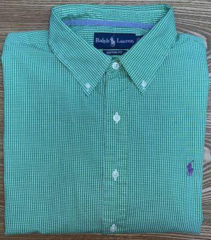 Ralph Lauren Men's Green Plaid Button Down Dress Shirt XXLarge for Sale in Grand Rapids, MI