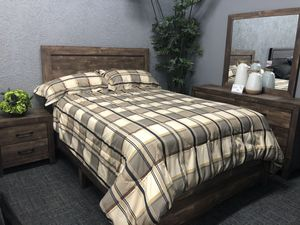 Queen 4pc set with mattress for Sale in Modesto, CA