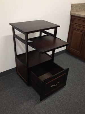 Brand new computer desk stand with pullout keyboard tray and storage drawer and wheels 21x16x34 inches for Sale in Los Angeles, CA