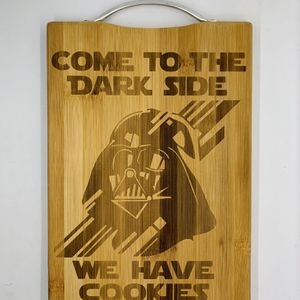Darth vader laser engraved bamboo high quality cuttingboard valentines gift for Sale in Los Angeles, CA