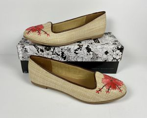 Size 8 Chinese Laundry Gotta Date Flats Natural Embroidered Floral NIB for Sale in Helena, MT