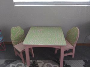 Custom painted kids table and chairs for Sale in Colorado Springs, CO