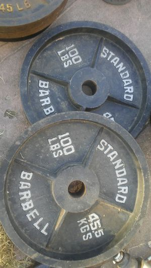 Olympic 2- 100lb plates for Sale in Stockton, CA