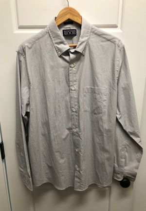 Hawker Rye Mens Large Dress Shirt (Grey) for Sale in Fort Mill, SC