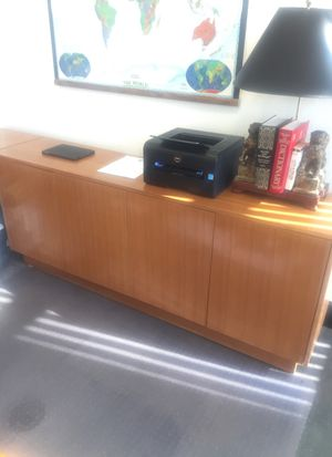Custom made maple finished credenza for Sale in West Palm Beach, FL