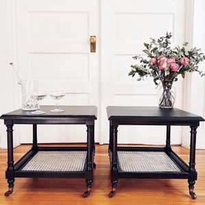 Authentic Vintage Mid Century Modern Cane Tables for Sale in Milwaukie, OR