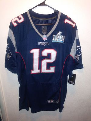 PATRIOTS SUPERBOWL PATCH STITCHED BRADY JERSEY for Sale in Santa Ana, CA