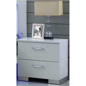 Brand new glossy nightstand $100 each one with wooden silver legs for Sale in North Miami, FL