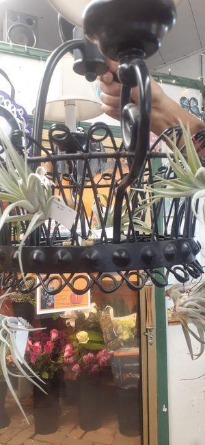 Farmhouse romantic cottage garden chandelier hanging basket 4 light 4 candelabra air plant thilandsia for Sale in Redondo Beach, CA