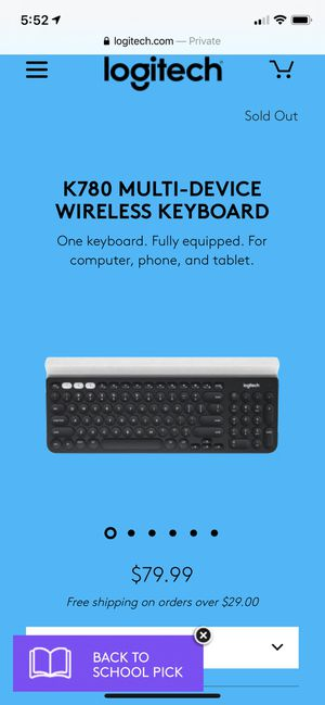 Logitech K780 Multi-Device wireless Bluetooth keyboard for desktop computer, tablets and r electronic devices for Sale in Whittier, CA