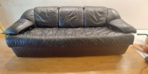 Sofa bed leather for Sale in Pompano Beach, FL