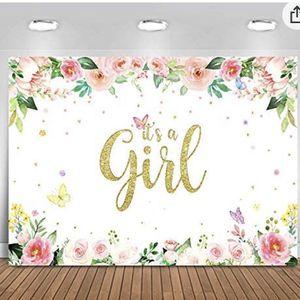 It's A Girl Backdrop for Sale in Fontana, CA