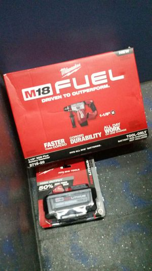 "*New* Milwaukee M18 Fuel 1- 1/8"" SDS Rotary Hammer & M18 XC 8.0 High Capacity Power Pack Included ($$ Saving Bundle!) for Sale in Hillsboro, OR"