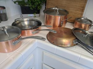 Cuisinart 10 piece triply copper pot/pan set for Sale in Encinitas, CA