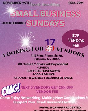 Small Business Sundays for Sale in Lithonia, GA