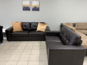 Sedona Chocolate Sofa & Loveseat Living Room Set for Sale in Fort Worth, TX