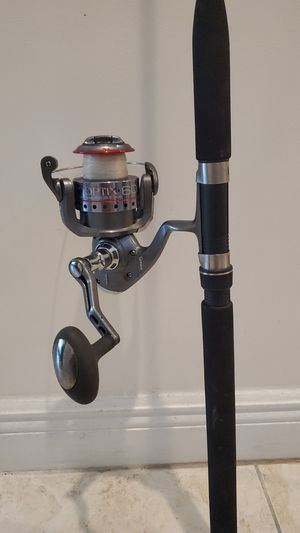 Quantum 60 fishing reel with 7 foot rod pole for Sale in Davie, FL