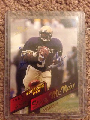 Steve McNair autographed college rookie card for Sale in Tempe, AZ