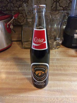 Vintage 1981 Big Ten Co. Champions Iowa Hawkeyes unopened Coca Cola bottle for Sale in Sugar Creek, MO