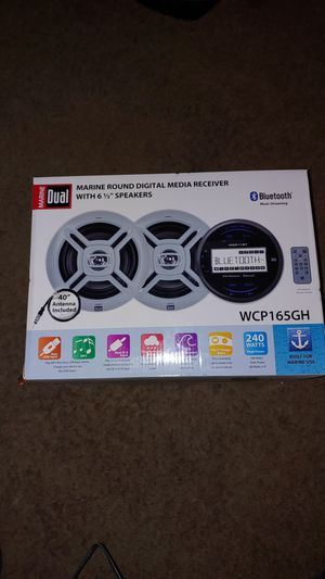 Dual Electronics WCP165GH 2.5 inch LCD Waterproof Marine Stereo Receiver for Sale in Denver, CO