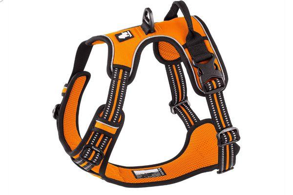 New Reflective Dog Harness, Orange, Large