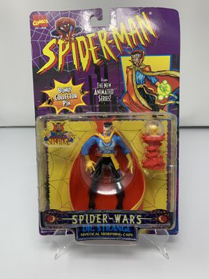 Vintage Dr. Strange Action Figure from the 90's Spider-Man The Animated series (Brand New/Card Slightly Bent) for Sale in Washington, DC