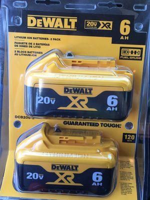 Dewalt 6.0 20 ah rechargeable batteries for Sale in Brentwood, TN