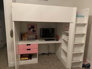 IKEA girls bunk bed desk for Sale in Monaca, PA
