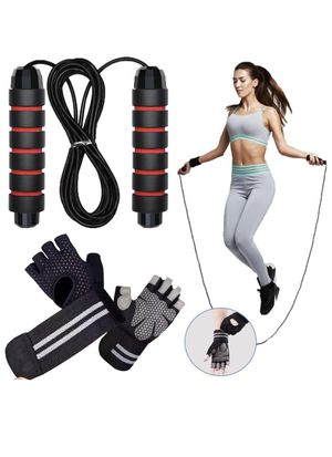 Jump Rope - with Workout Gloves (New Never Opened or used) for Sale in Corona, CA