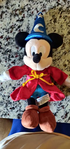 Official Disney Parks Sorcerer Mickey Mouse 14' Plush for Sale in Englewood, CO