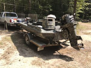 17' fishing boat w/150hp Yamaha motor for Sale in Pelahatchie, MS