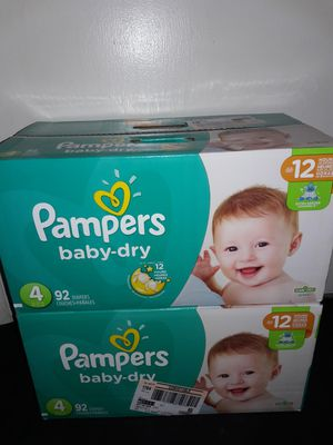 Pampers Baby Dry Size 4 (92 diapers): 2 boxes for $44 I will not accept less. for Sale in Garland, TX